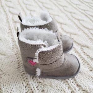 Gray Fuzzy Boots